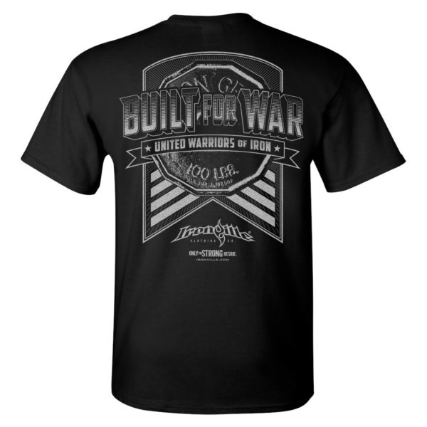 Built For War Bodybuilding Gym T Shirt Black