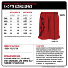 Mens Weightlifting Shorts Size Chart