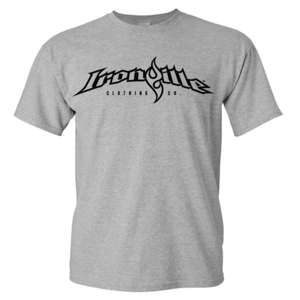 Ironville T Shirt Full Horizontal Logo Front Sport Gray