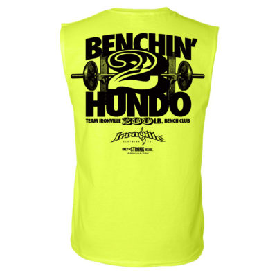 200 Bench Press Club Sleeveless T Shirt Neon Yellow