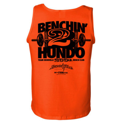 200 Bench Press Club Tank Top Orange