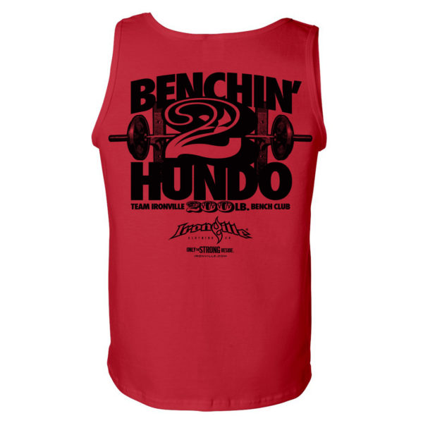 200 Bench Press Club Tank Top Red