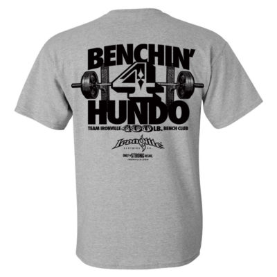 400 Bench Press Club T Shirt Sport Gray