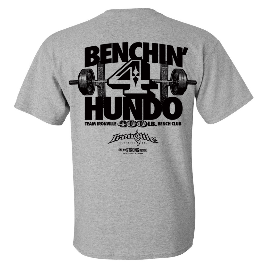 400 Pound Bench Press Club T Shirt Ironville Clothing