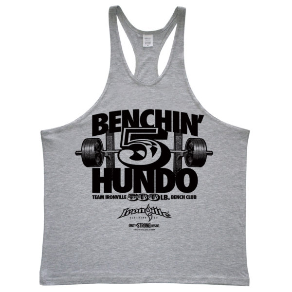 500 Bench Press Club Stringer Tank Top Sport Gray