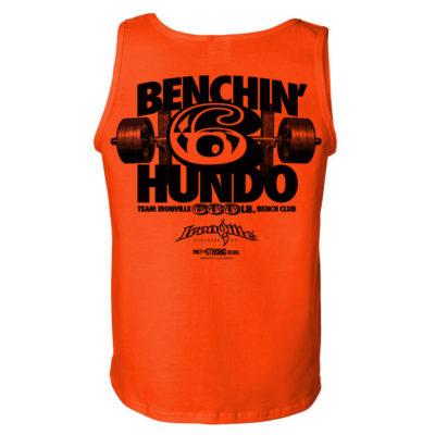 600 Bench Press Club Tank Top Orange
