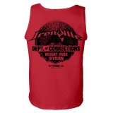 Department Of Corrections Prison Gym Tank Top Red