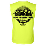 Department Of Corrections Prison Sleeveless Gym T Shirt Neon Yellow
