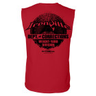 Department Of Corrections Prison Sleeveless Gym T Shirt Red