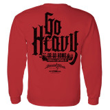 Go Heavy Or Go Home Powerlifting Long Sleeve Gym T Shirt Red