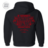 If You Didnt Lift It Raw You Didnt Lift It Powerlifting Gym Zipper Hoodie Black