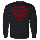 If You Didnt Lift It Raw You Didnt Lift It Powerlifting Long Sleeve Gym T Shirt Black
