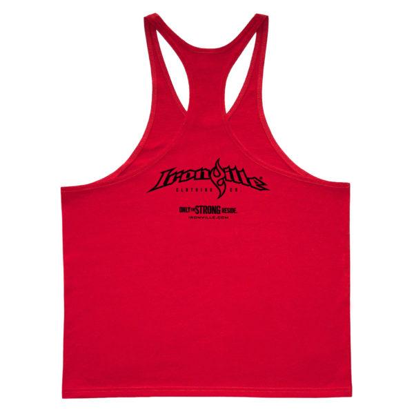 Ironville Stringer Tank Top Full Horizontal Logo Back Red