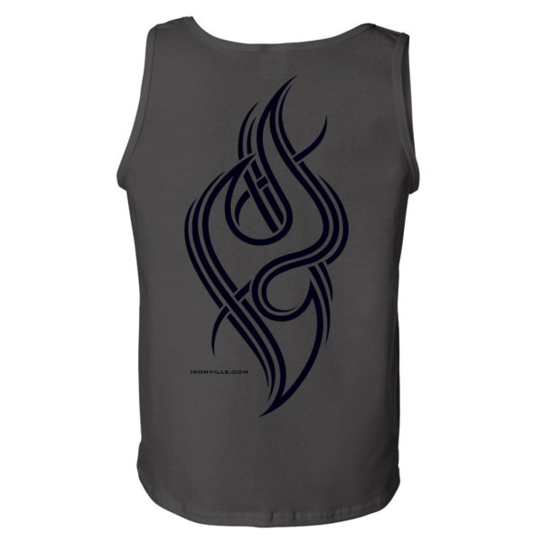Ironville Tribal V Bodybuilding Gym Tank Top Charcoal Gray