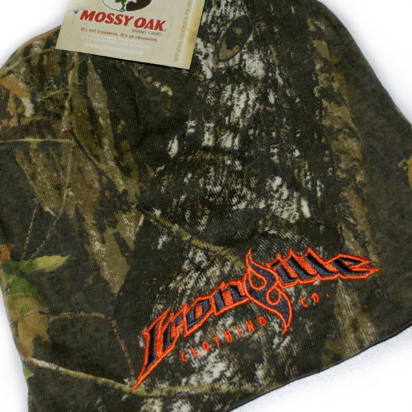 Ironville Weightlifting Gym Beanie Mossy Oak Camo Orange Charcoal