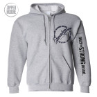 Ironville Zipper Hoodie Full Circle Logo Front Sport Gray
