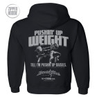 Pushin Up Weight Till Im Pushin Up Daisies Bench Press Zipper Hoodie Black