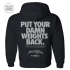 Put Your Damn Weights Back Bodybuilding Gym Hoodie Black
