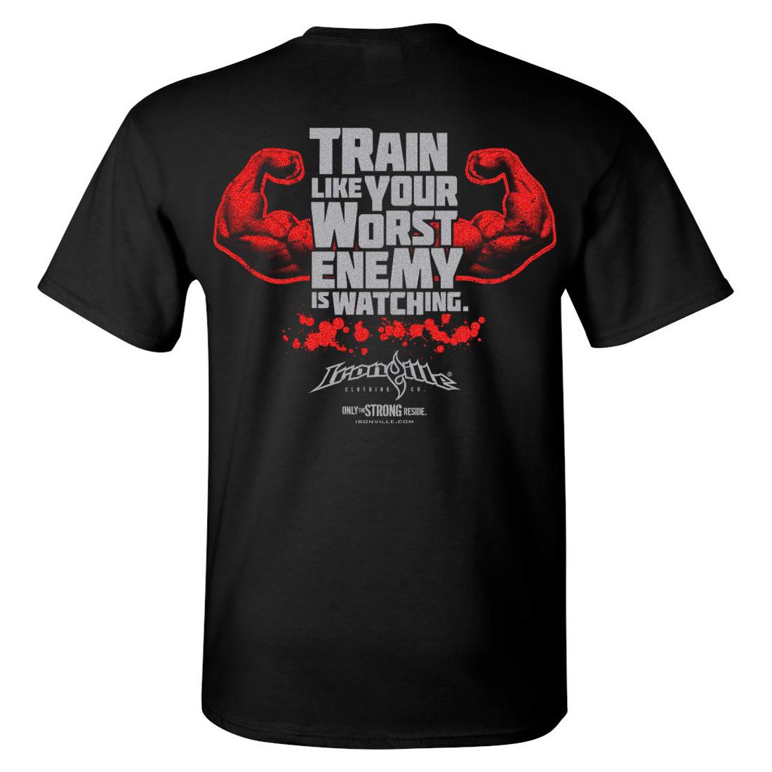 Worst Enemy | Bodybuilding T-Shirt | Ironville Clothing for Bodybuilding Logos For T Shirts  70ref
