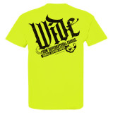 Wide From Supernatural Causes Bodybuilding Gym T Shirt Neon Yellow