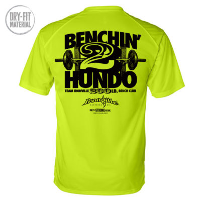 200 Bench Press Club Dri Fit T Shirt Neon Yellow