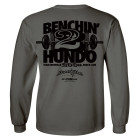 200 Bench Press Club Long Sleeve T Shirt Charcoal Gray