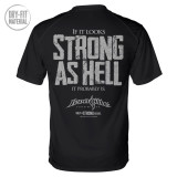 If It Looks Strong As Hell It Probably Is Powerlifting Gym Dri Fit T Shirt Black