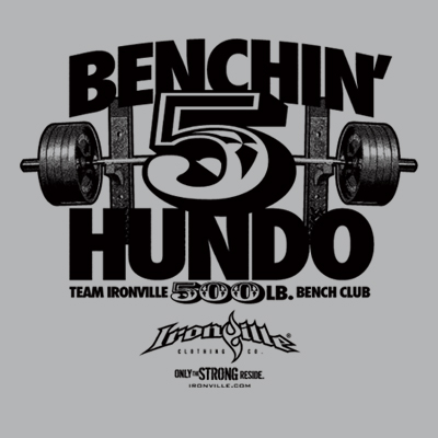 Ironville Bench Press Club - 500 Pound