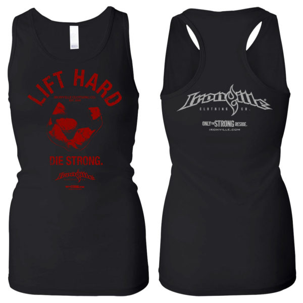 Lift Hard Die Strong Womens Bodybuilding Workout Tank Top Black