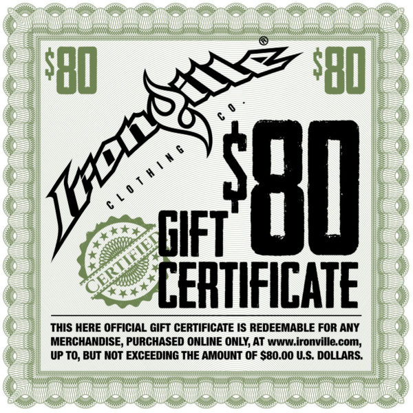 Powerlifting Gym Clothing Holiday Gift Certificate 80