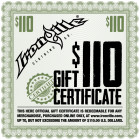 Workout Gym Clothing Holiday Gift Certificate 110