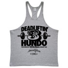300 Deadlift Club Stringer Tank Top Sport Gray