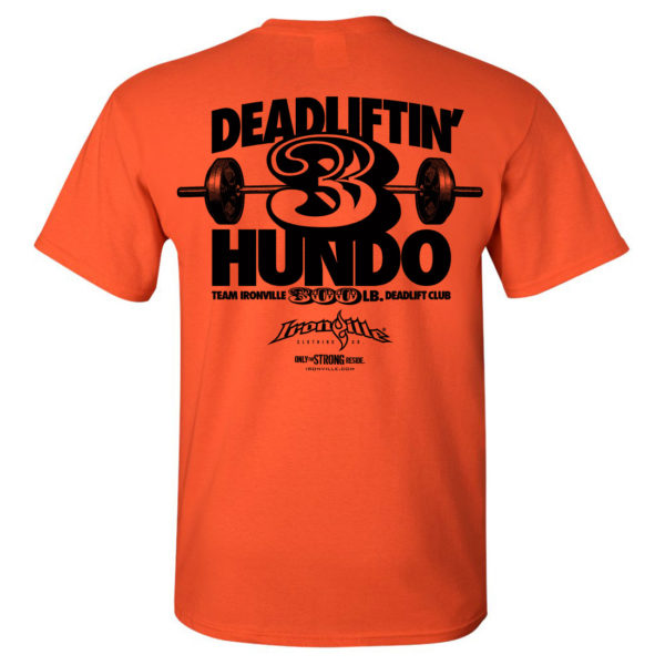 300 Deadlift Club T Shirt Orange