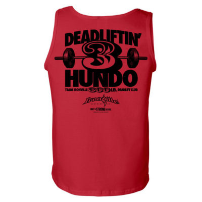 300 Deadlift Club Tank Top Red