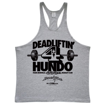 400 Deadlift Club Stringer Tank Top Sport Gray