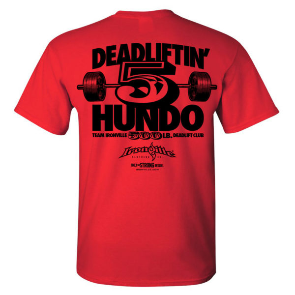 500 Deadlift Club T Shirt Red