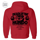 600 Deadlift Club Hoodie Red