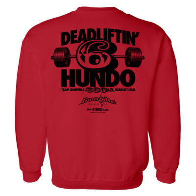 600 Deadlift Club Sweatshirt Red