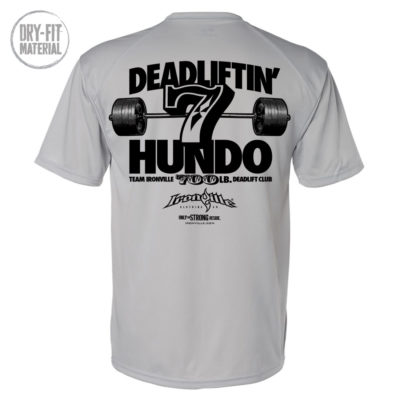 700 Deadlift Club Dri Fit T Shirt Gray