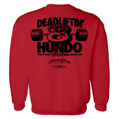 800 Deadlift Club Sweatshirt Red