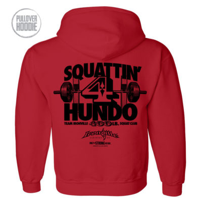 400 Squat Club Hoodie Red