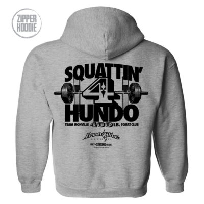 400 Squat Club Zipper Hoodie Sport Gray