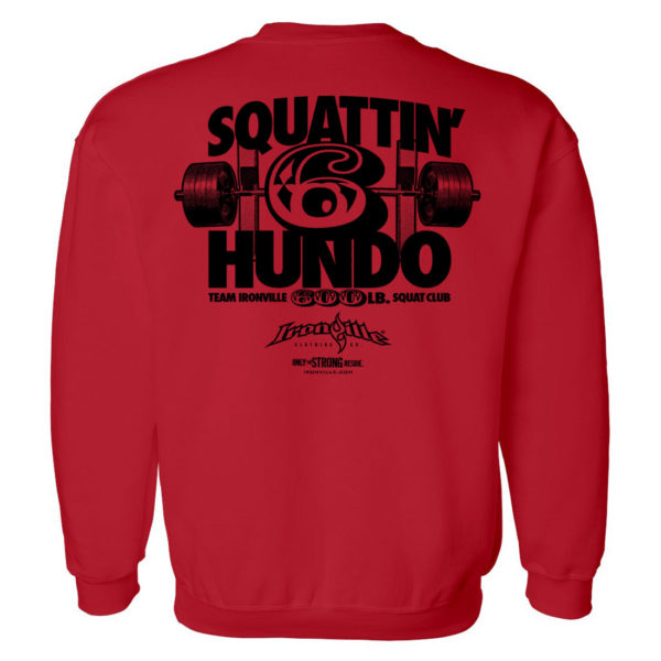 600 Squat Club Sweatshirt Red