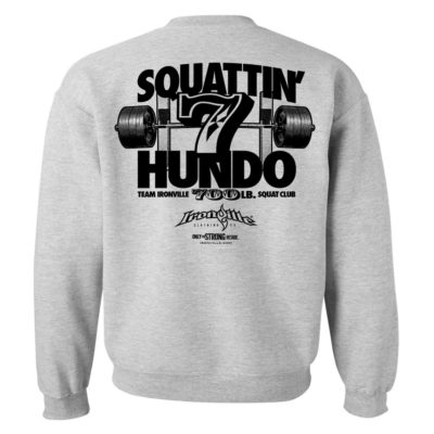 700 Squat Club Sweatshirt Sport Gray