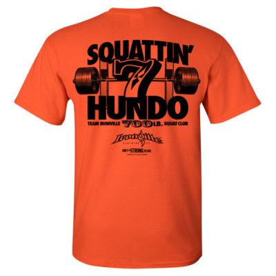 700 Squat Club T Shirt Orange