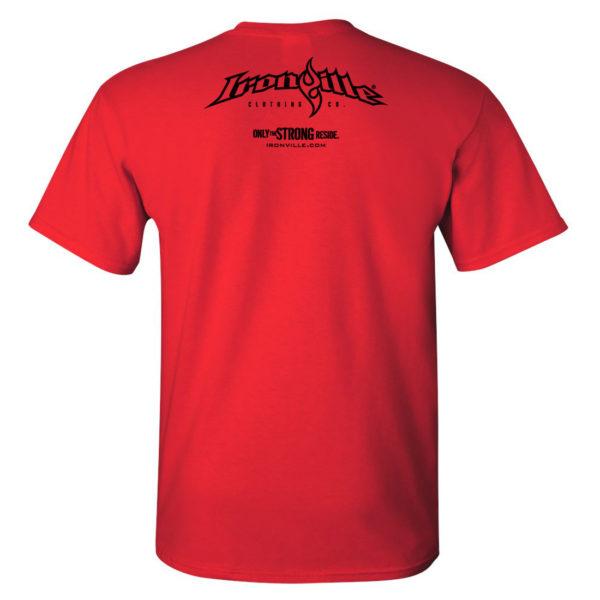 Ironville T Shirt Small Horizontal Logo Back Red
