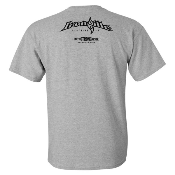 Ironville T Shirt Small Horizontal Logo Back Sport Gray