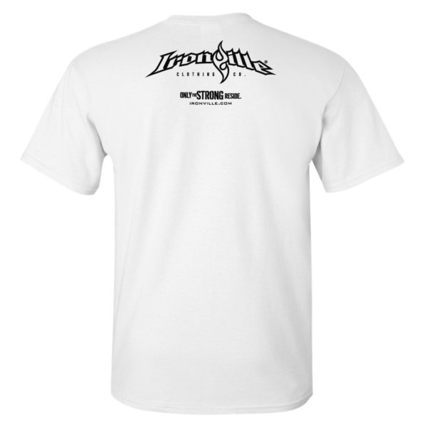 Ironville T Shirt Small Horizontal Logo Back White