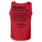 Meathead Definition Of Frail People Dedicated Higher Level Muscle Mass Weightlifting Tank Top Red