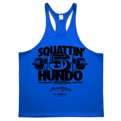 500 Squat Club Stringer Tank Top Royal Blue